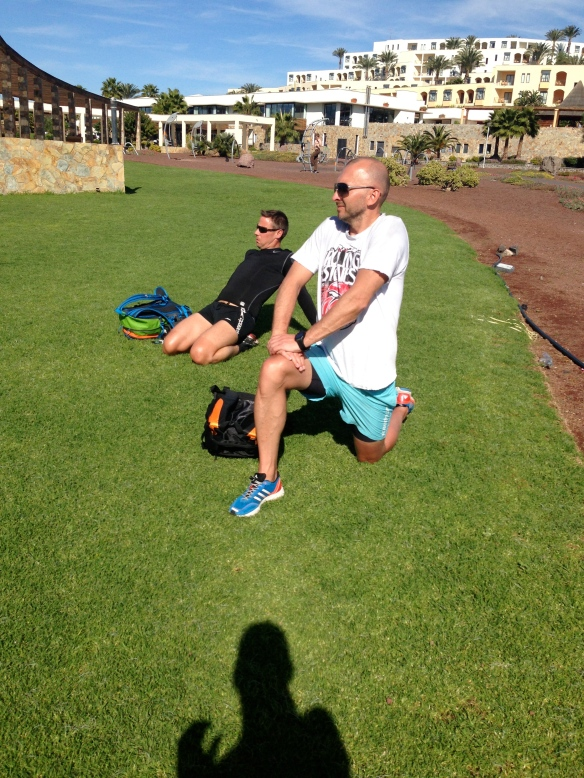 Vissa stretchade medans andra körde coreträning :)