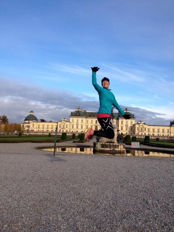 En gammal bild från ett löparpass ut till Drottningholm i höstas.