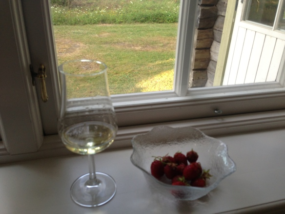 Nyplockade jordgubbar