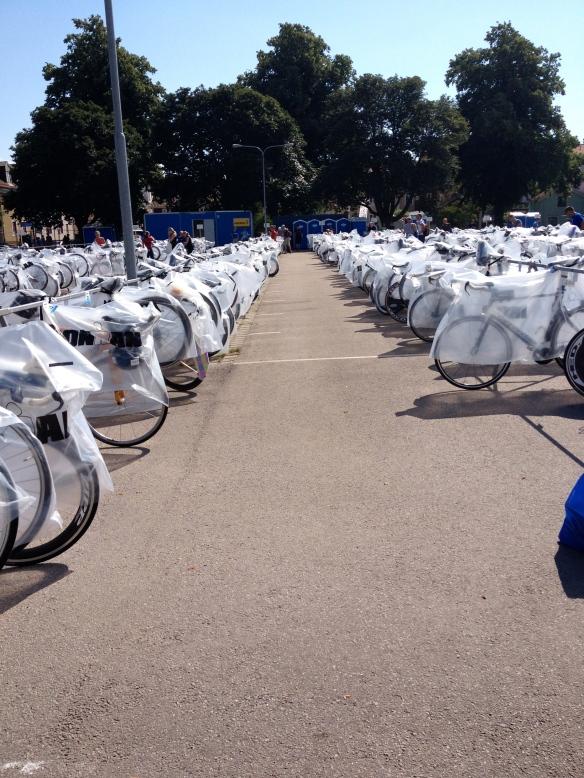 Incheckade cyklar