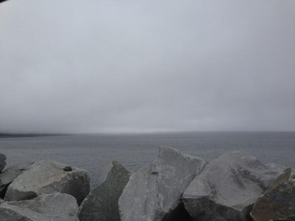Mitt uppe på toppen kom det helt plötsligt en sjö!