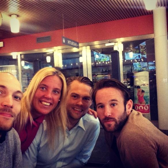 Gustaf, jag, Johan och Tobbe!