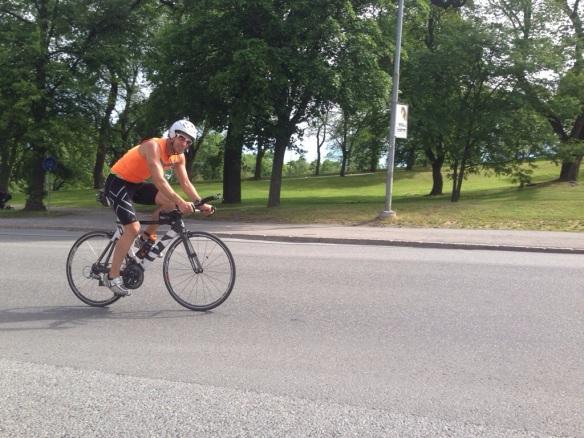 Viktor var stark på cykeln