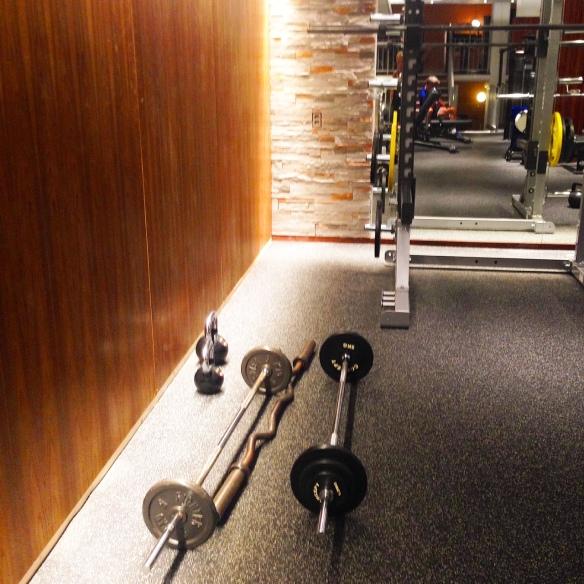Styrkepass på gymmet. Otroligt gött för musklerna.