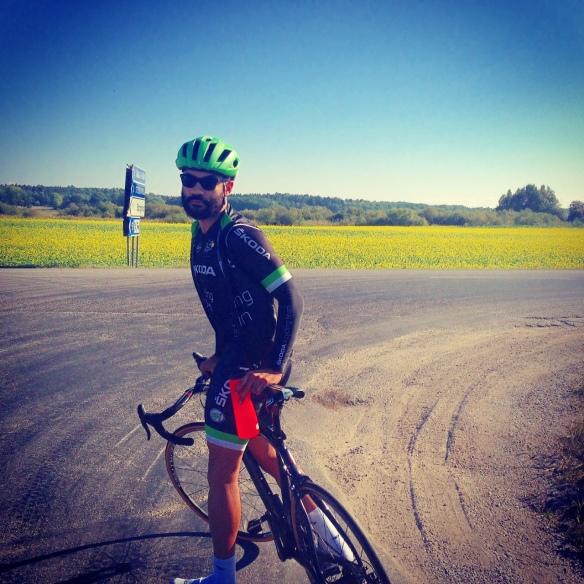 Ett riktigt bra cykelpass med Martin i strålande höstväder.