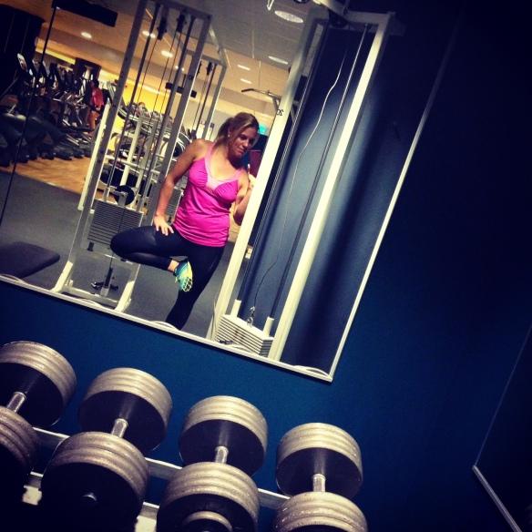 På gymmet.