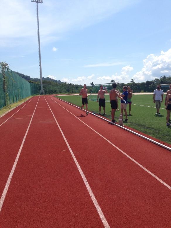 Och efter simnings  väntade dom avslutande 1000m löpning.