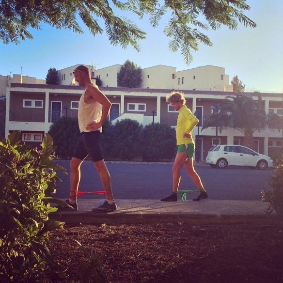 David och Patrik på promenad