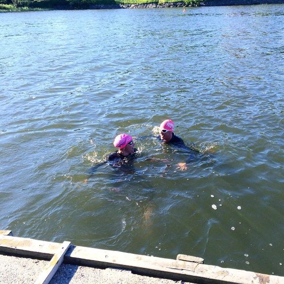 Jätte varmt och skönt i vattnet!