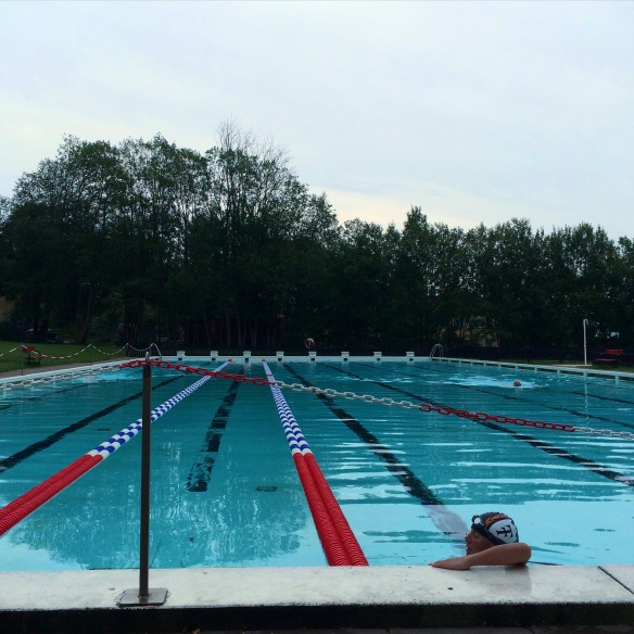 Sista simpasset på Huvudstabadet för den här säsongen.