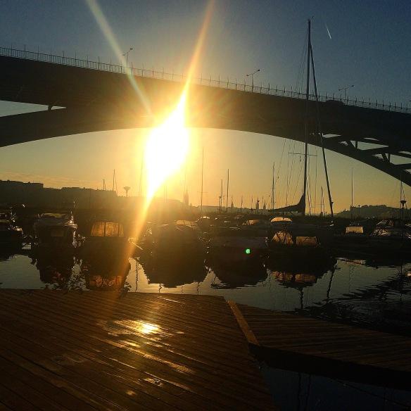 Soluppgång över Västerbron!