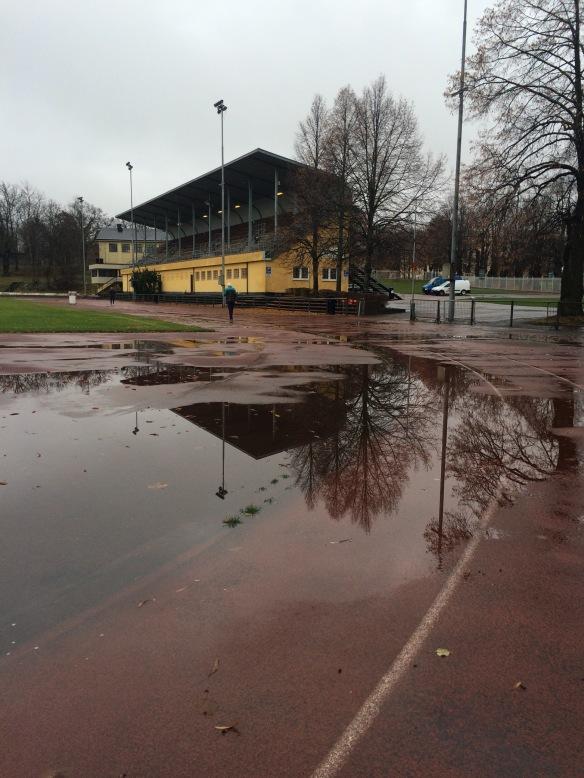 Krillan mellan regndropparna. Tänk om dom kunde rusta upp dessa löparbanor....hade varit guld!!!