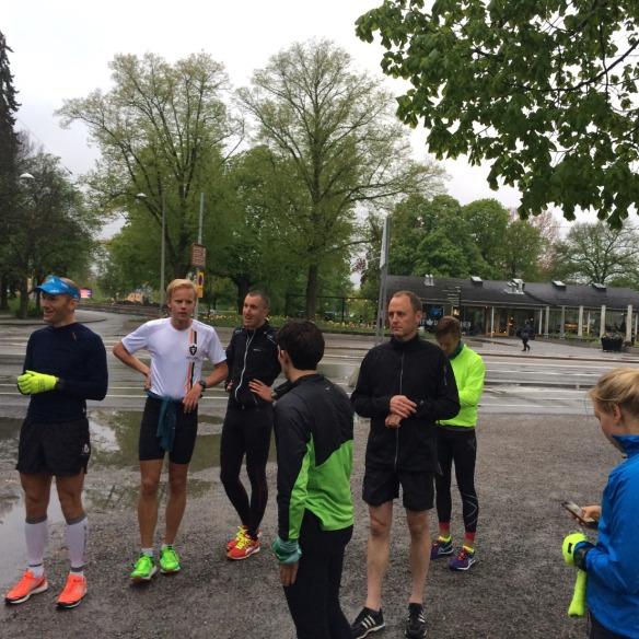 Det blev löpintervaller med TT på Djurgården! Som vanligt mår man riktigt skit under dessa träningspass!