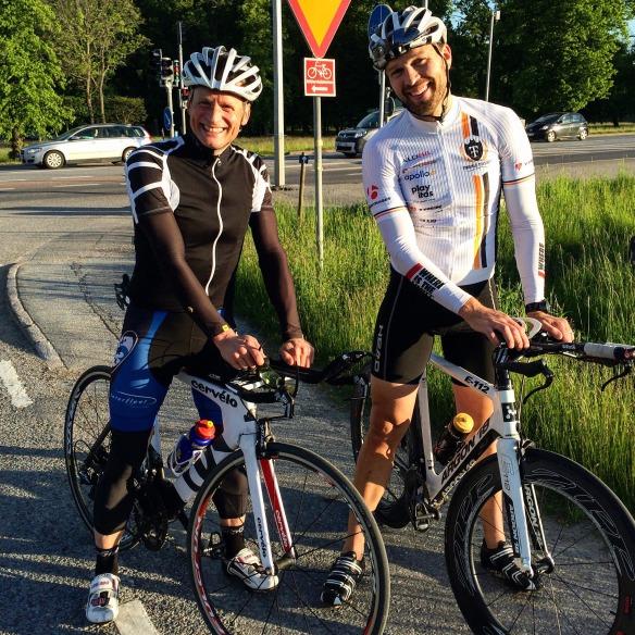 Och mera cykelpass - här med Pär och Calle