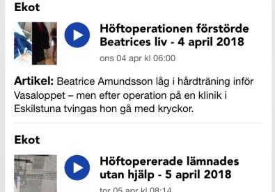 Klicka på bilden för att komma se och läsa alla inslag på Sveriges Radio